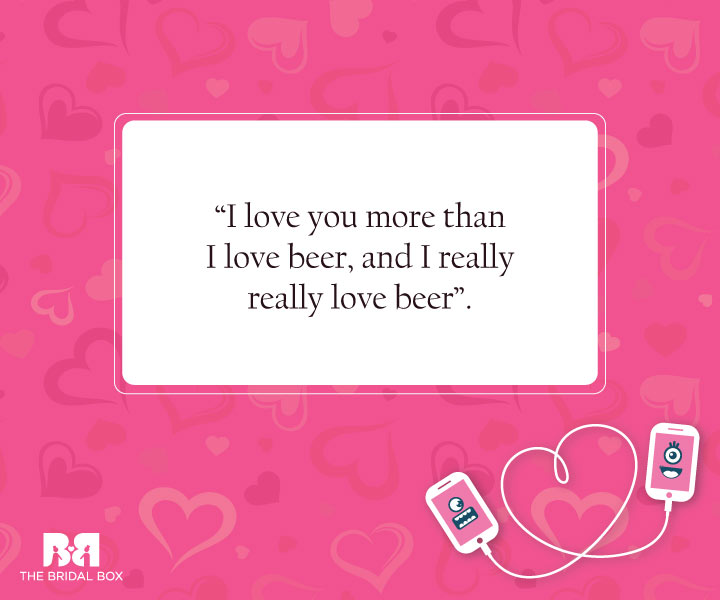 Beer Love - Funny Love SMS For Girlfriend