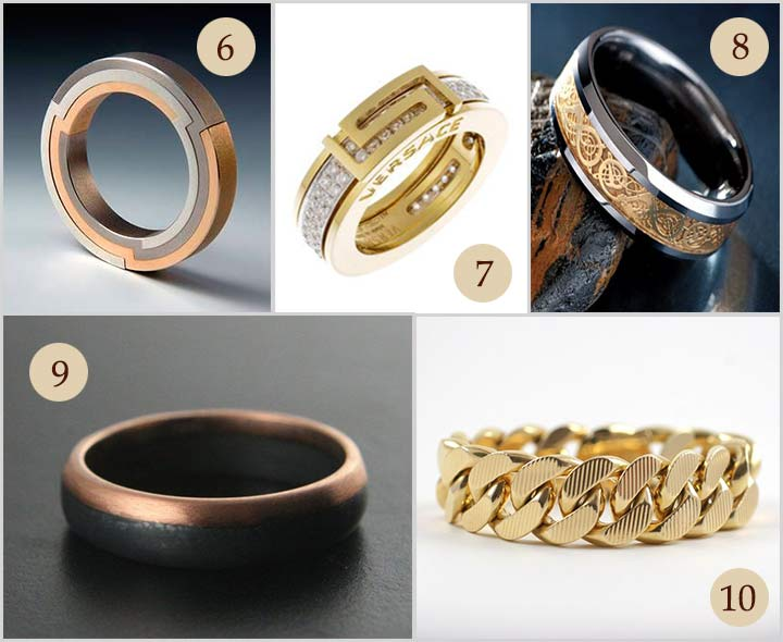 Charming Engagement Gold Rings For Men