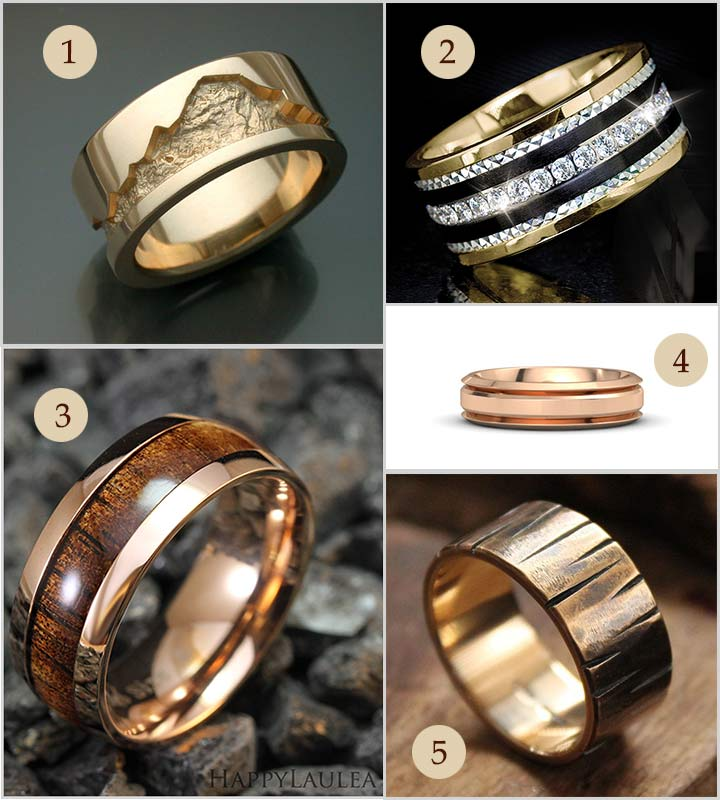 Beautiful Engagement Rings For Men In Gold