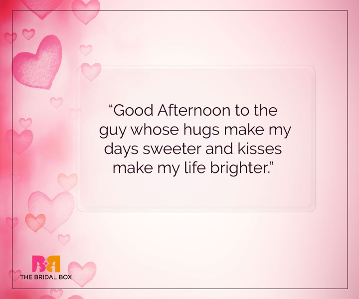 Good Afternoon Love SMS - Hugs & Kisses
