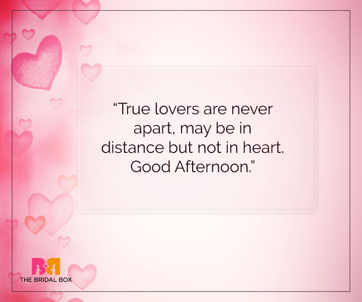 Good Afternoon Love SMS   Heart