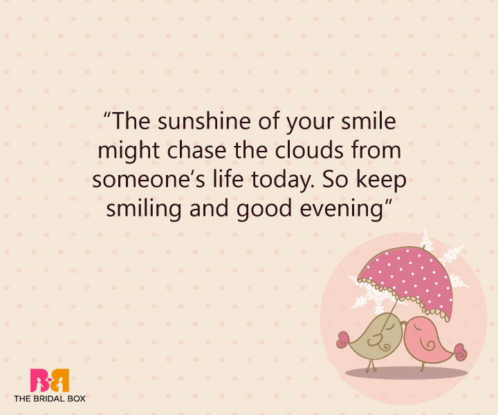 Good Evening Love SMS - Keep Smiling
