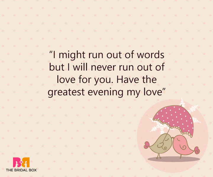 Good Evening Love SMS - Lovely Words