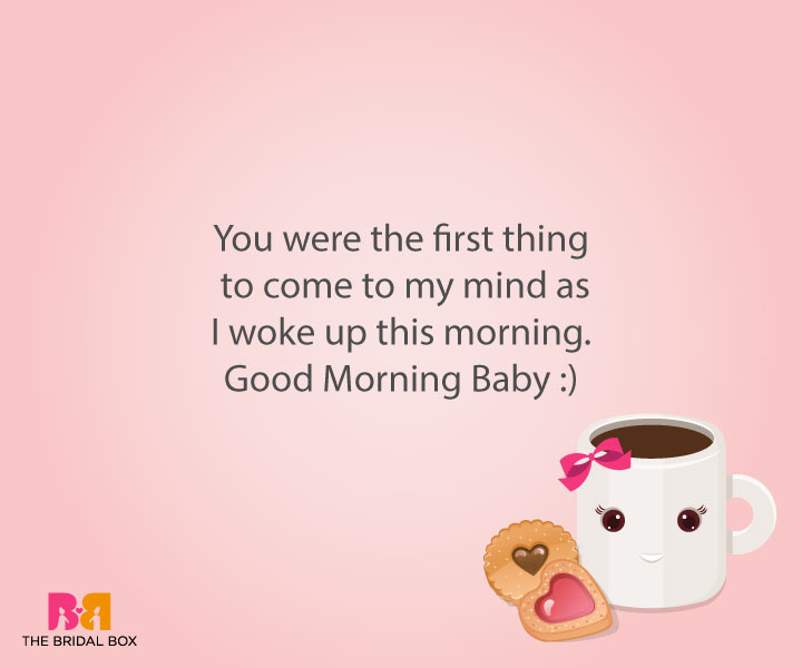 Good Morning Love Sms For Girlfriend - The First Thing On My Mind