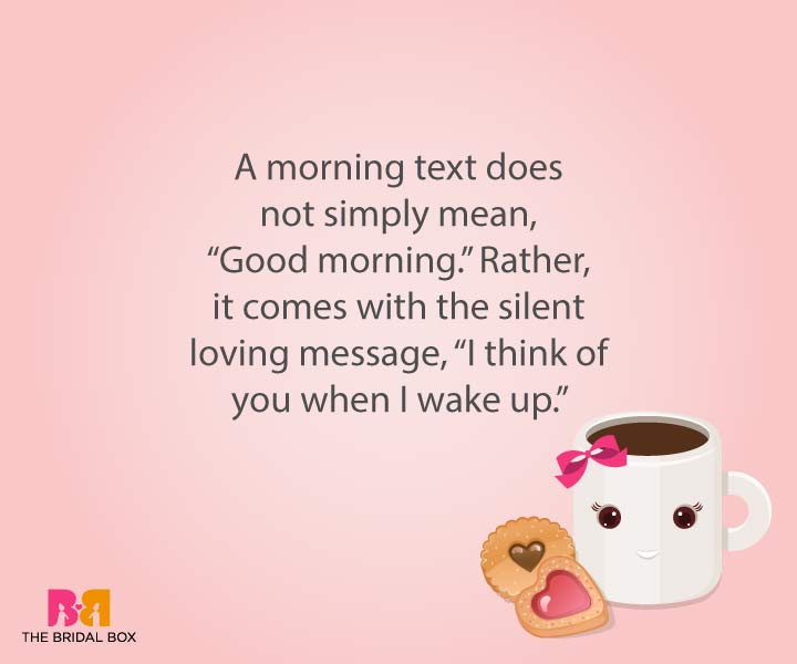 Good Morning Love Sms For Girlfriend - I Think Of You When I Wake Up