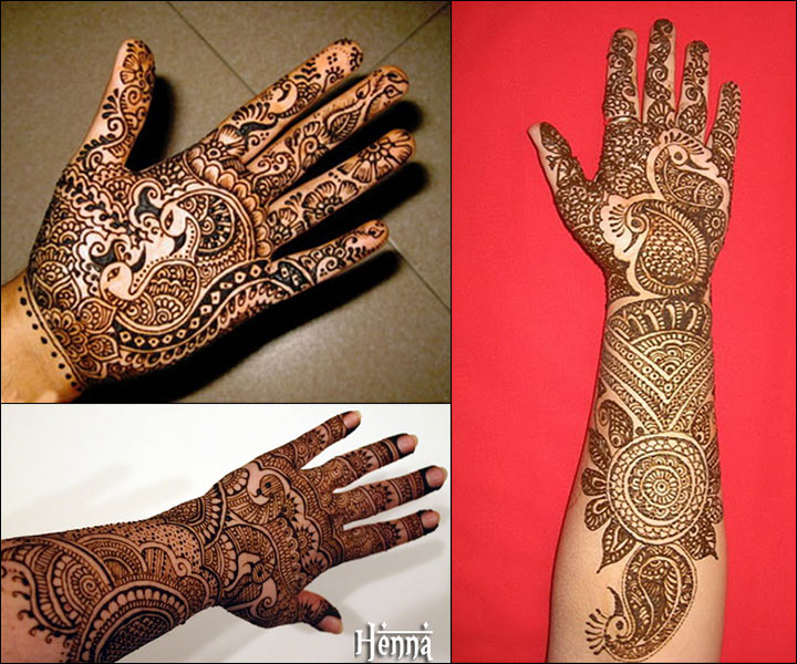 Love Birds Themed Gujarati Mehndi Design