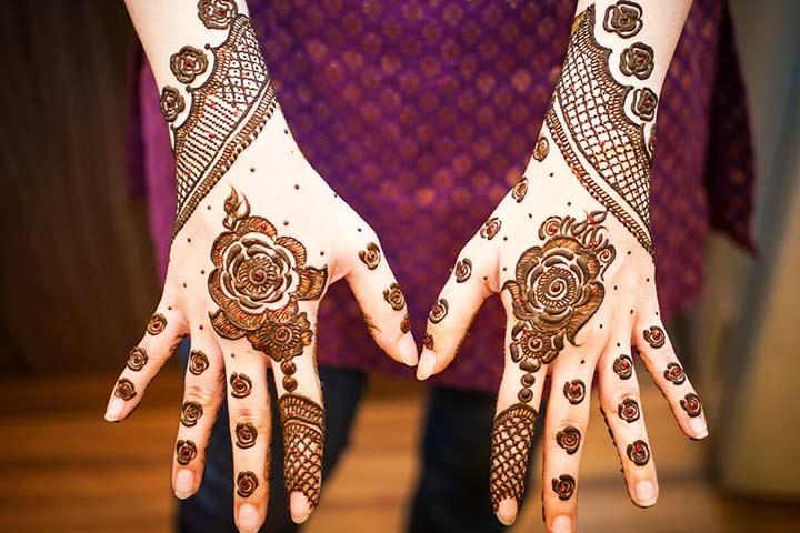 Indian Henna - Full Hand Mehndi Designs