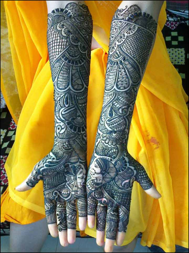 Marwari Mehndi Designs For Full Hands