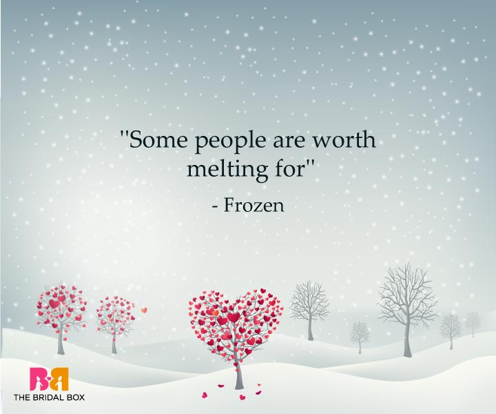 One Line Love Quotes For Her - Frozen