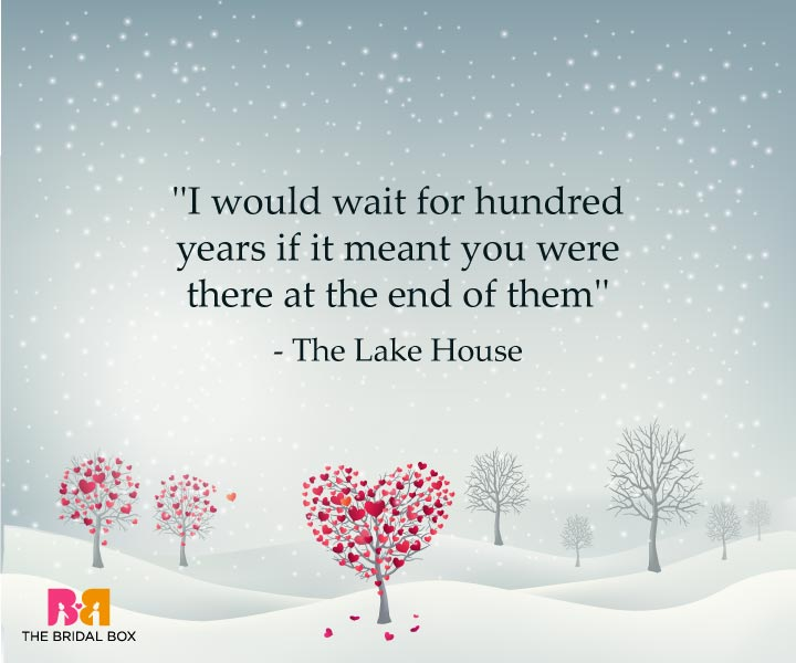 The Lake House - One Line Love Quotes For Her
