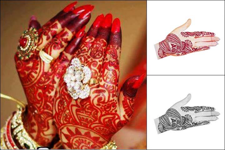 Paisley Bengali Mehndi Designs