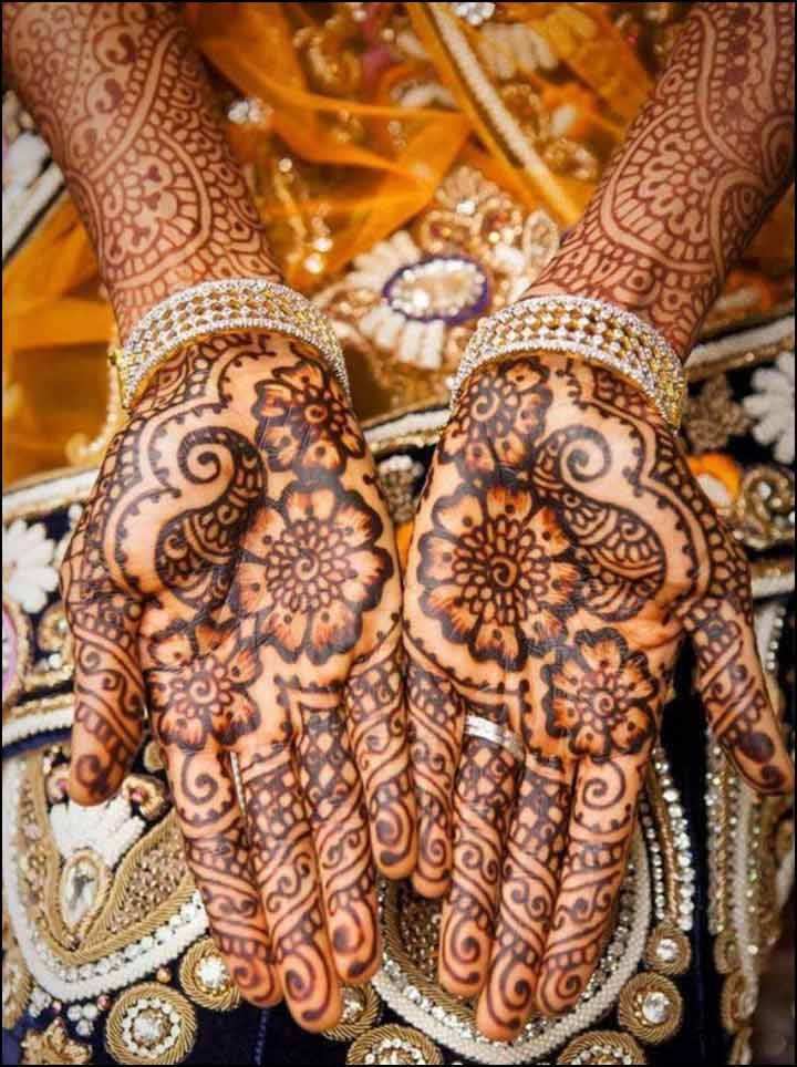 Floral Rajasthani Mehndi Designs For Hand