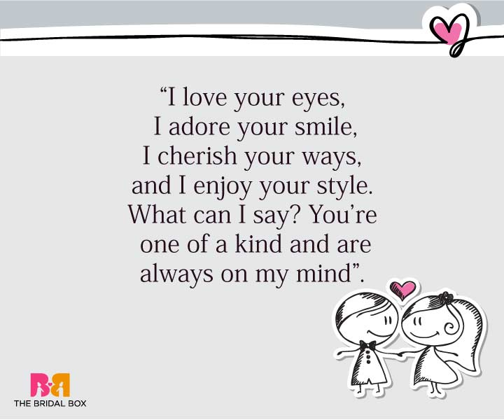 Cute Love SMS For Girlfriend - On My Mind