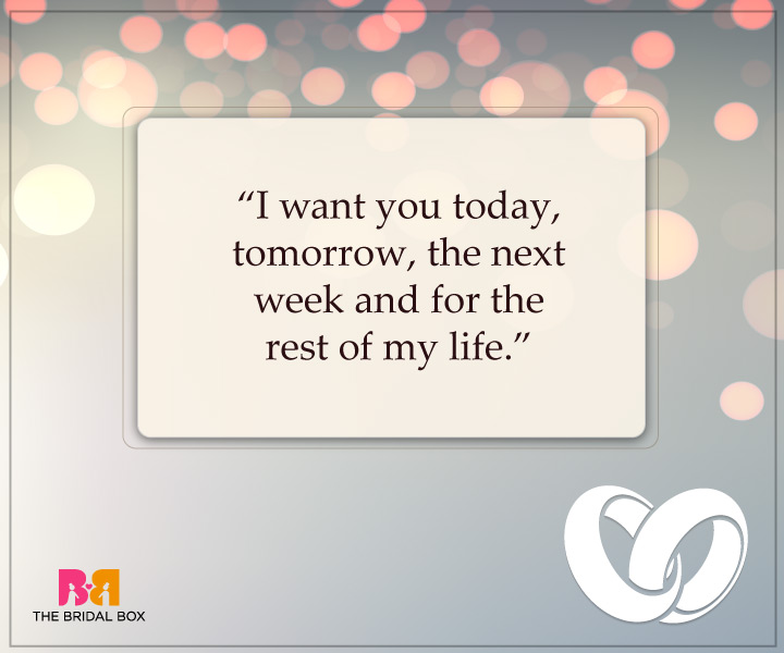 Engagement Quotes For Him - I Want You Always