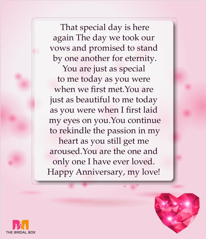 Eternity - Love Anniversary Sms
