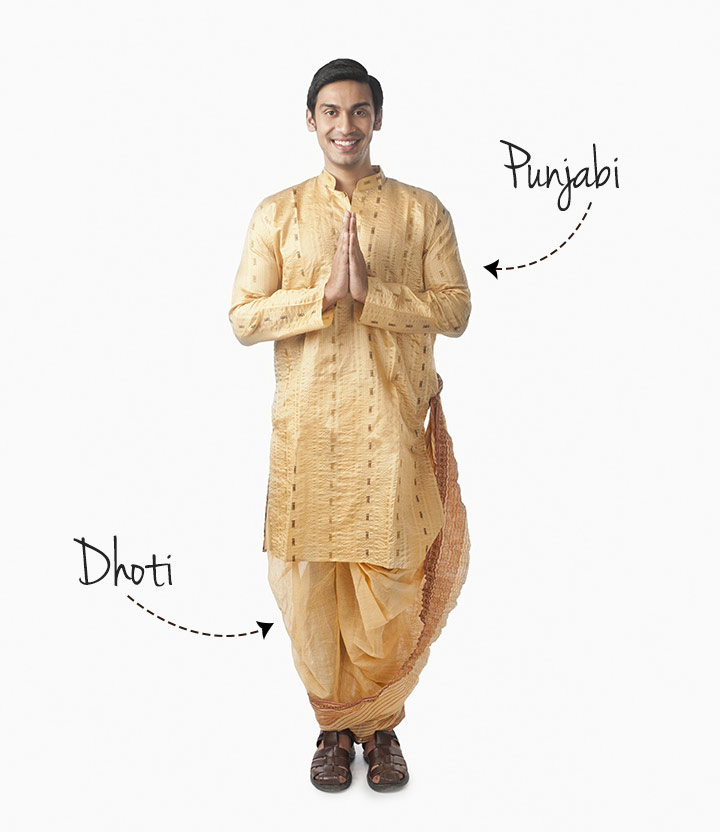 Bengali Groom Dress - Dhoti And Kurta