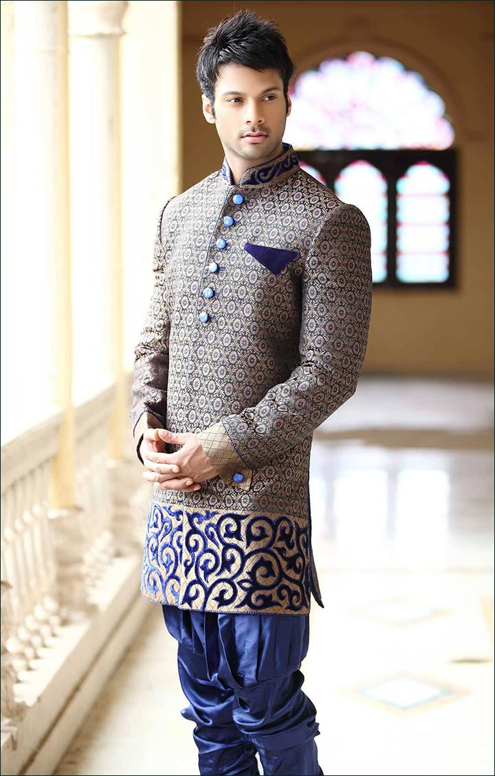 Fusion-wear-for-kerala-groom