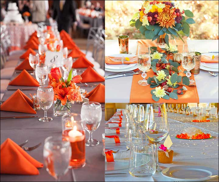 Feasts Of Orange - Orange Wedding Decorations