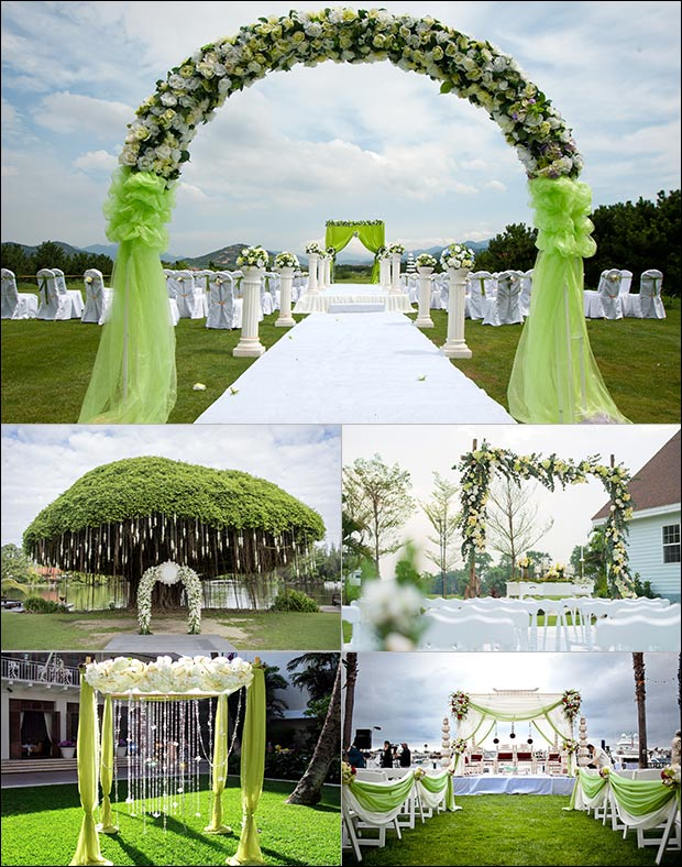 Venue - Green Wedding Decorations