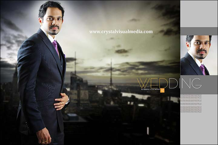 kerala groom in suit for wedding