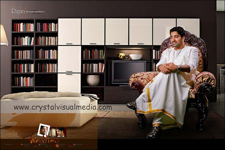 kerala groom in white dhoti