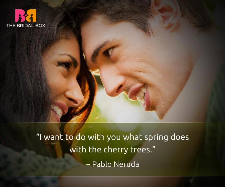I love you quote for him - Pablo Neruda