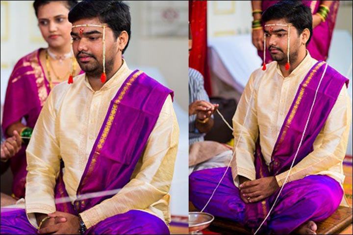 mahrastrian groom with blue dress