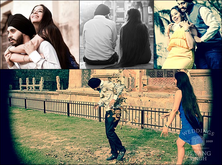 Indian Pre Wedding Photoshoot - Wedding Collage
