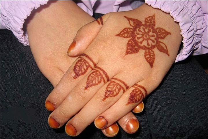 Mehndi Patterns Kids : Smashing simple mehndi designs for kids