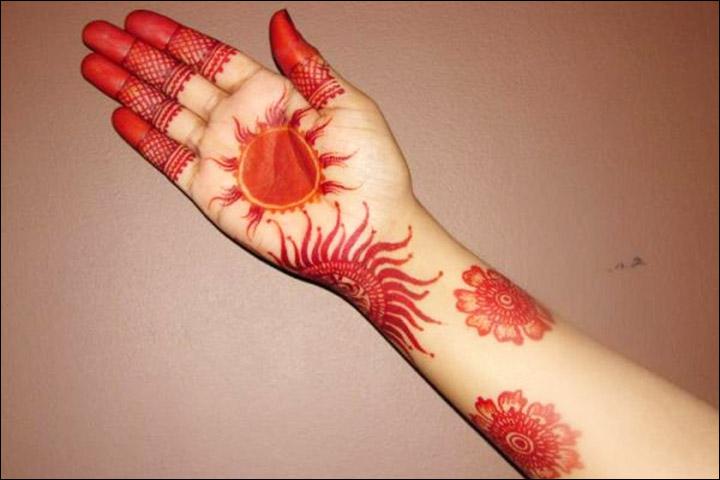 Red Henna Mehndi : Mehndi design red and black makedes
