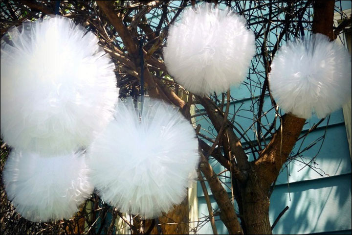 6 ideas for gorgeous tulle wedding decorations tulle for trees tulle wedding decorations junglespirit Choice Image