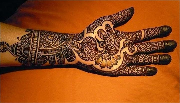 Latest Mehndi Designs - Butterfly Peacock Fusion Bridal Theme