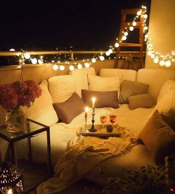 Wedding Night Decoration - Barn Lights And Pillows