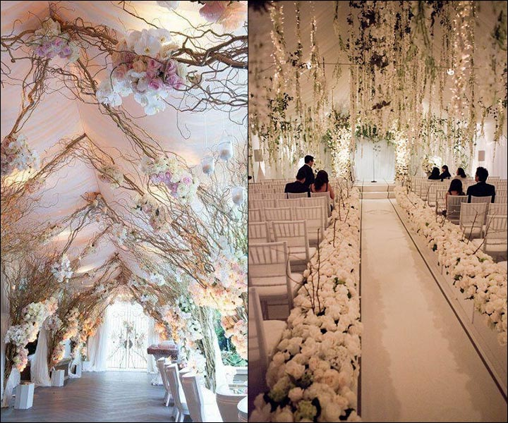 These Indoor Ceremony Backdrops Will Make You Pray For: 11 Astonishing Indoor Wedding Decoration Ideas For This