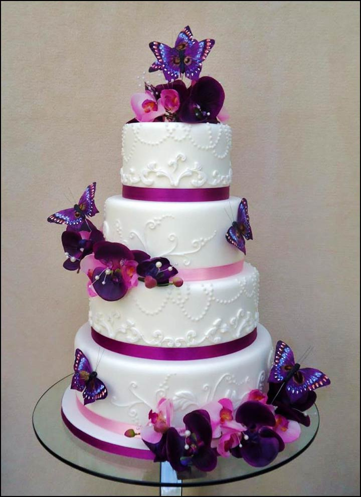 Butterfly Cake Designs Wedding