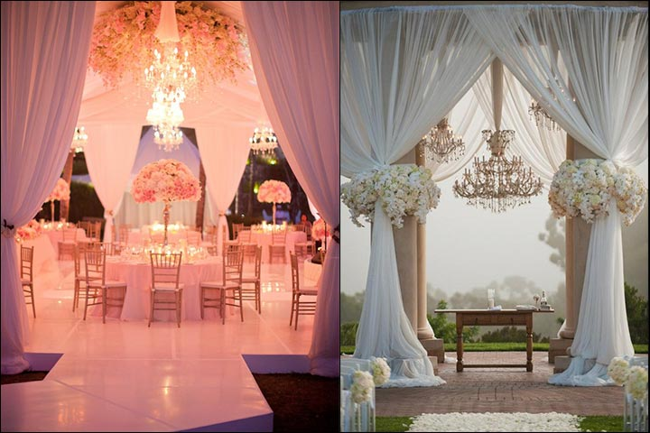 Classic-Wedding-Drapes-And-Chandeliers
