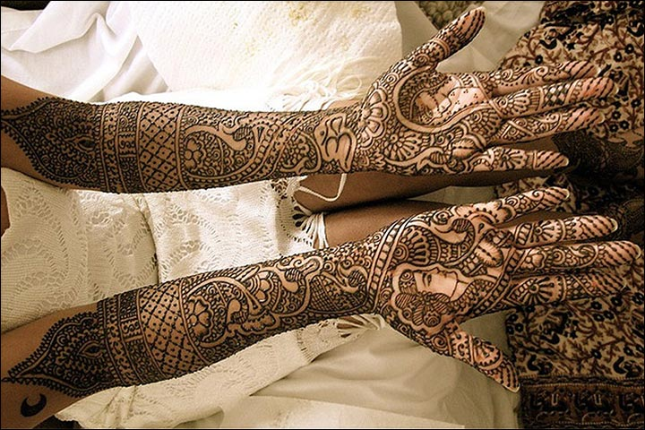 Latest Mehndi Designs - Dulha Dulhan