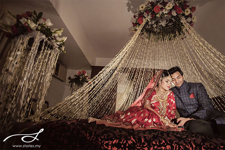 Wedding room decorations 10 ideas to make the festivities for Suhagrat bed decoration design