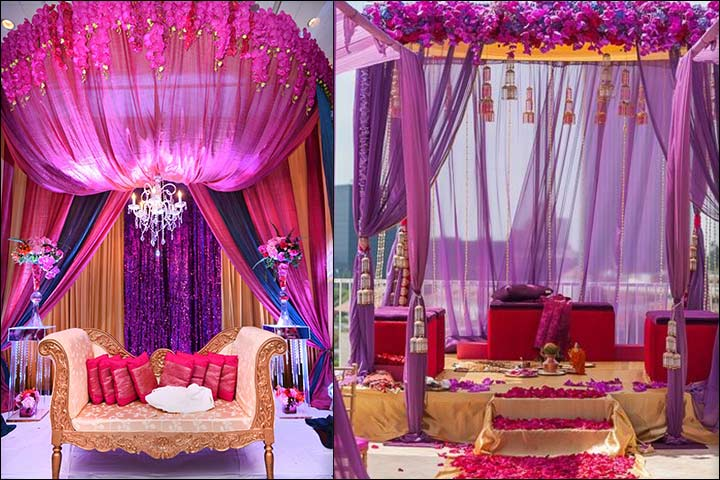 Magnificent Mandap Style Indian Wedding Stage Decoration