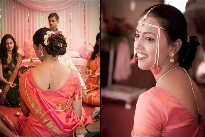 maharashtrian bridal hairstyles - The Blossoming Bun