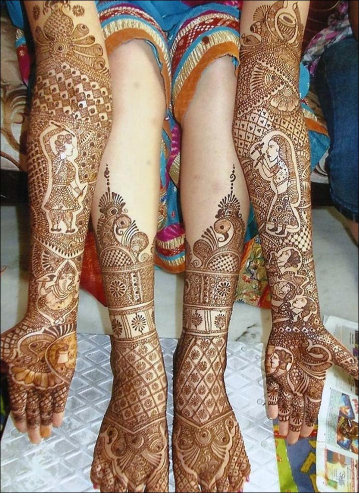 The Modern Day Dandiya Mehndi Design