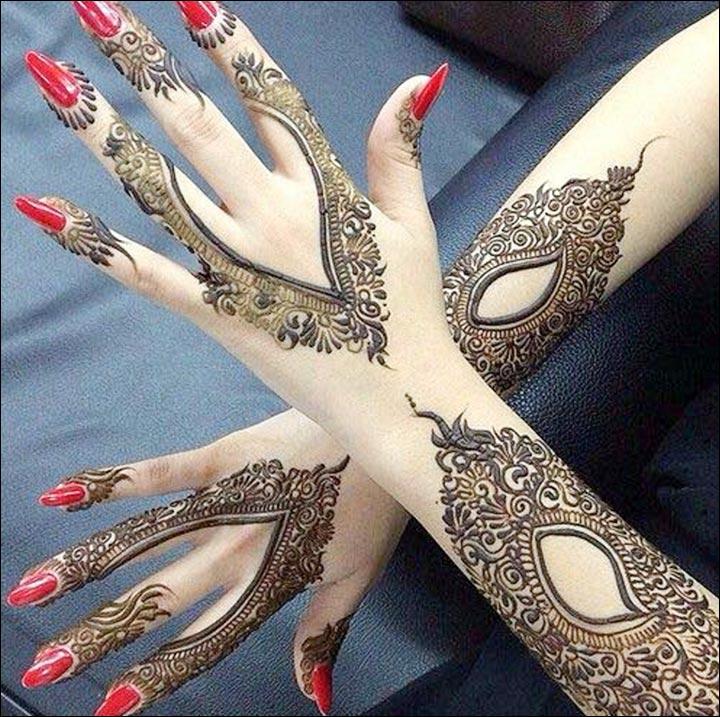 Modern Arabic Mehndi Designs : Latest mehndi designs  top styles