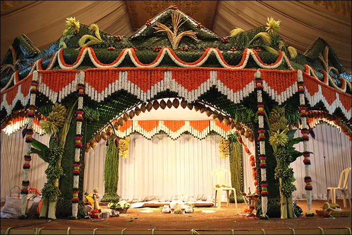 Indian wedding stage decoration ideas 9 ideas thatll inspire traditional indian wedding stage decoration junglespirit Images