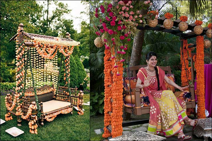 indian wedding stage decoration - The Swing