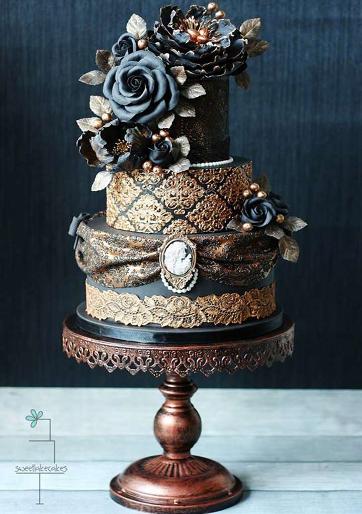 Wedding Cake Designs - Victorian Goth Luxury