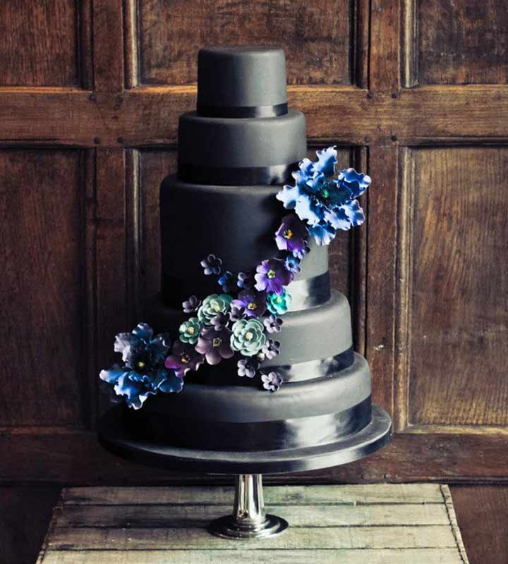 Wedding Cake Designs - An All Black Wedding Cake