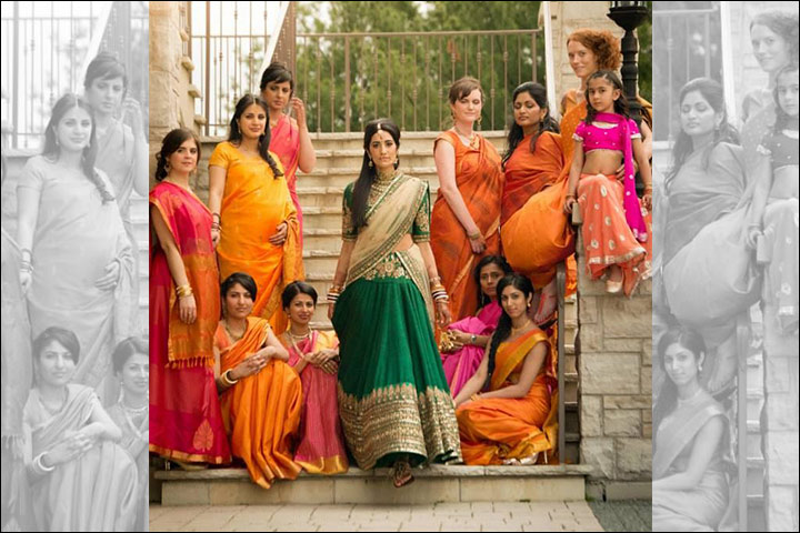 coded-wedding guest in shades of orange and pink