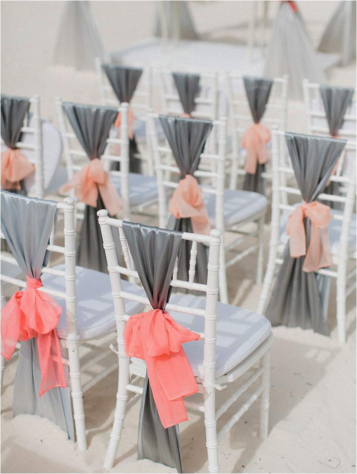 Coral Wedding Decorations - Coral Bows
