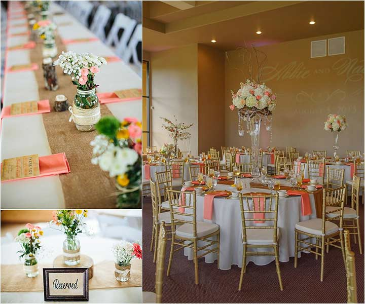 Coral Wedding Decorations - Coral Napkins