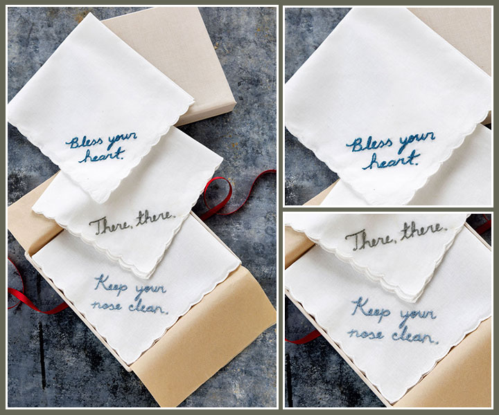 diy-gift-guide-for lovers-embroidered handkerchiefs